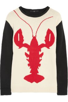 Tibi Lobster Intarsia Cotton Sweater - Lyst