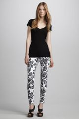 Ag Adriano Goldschmied Sateen Floral print Leggings - Lyst
