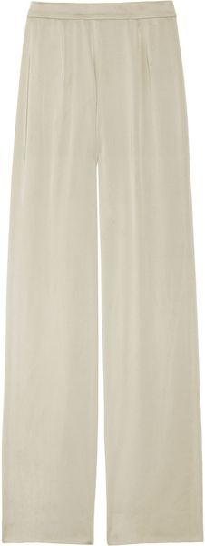 Donna Karan New York Highwaisted Stretchsatin Pants - Lyst
