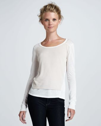 Elizabeth And James Layered Cotton-silk Pullover - Lyst
