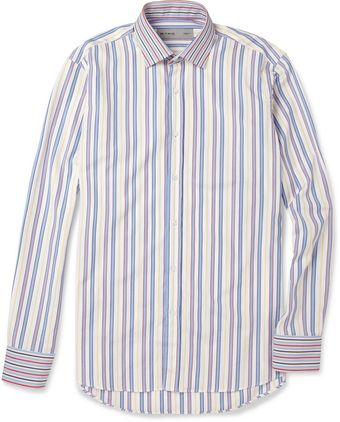 Etro Striped Cotton Shirt - Lyst