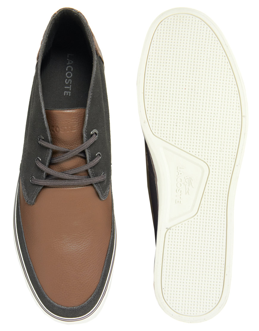 771d5233c26022 Lyst - Lacoste Clavel Chukka Boots in Brown for Men