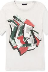 Lanvin Printed Cotton Crew Neck Tshirt - Lyst
