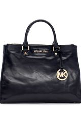 Michael by Michael Kors Large Bedford Leather Dressy Tote Bag - Lyst