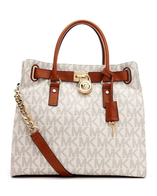 0c956fb8653 Lyst - MICHAEL Michael Kors Large Hamilton Logo Tote Bag in Brown