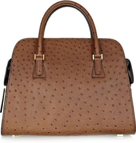 Buy Michael Kors Gia Totes - Bags Michael Kors Cinnamon Gia Ostrich Effect Leather Tote
