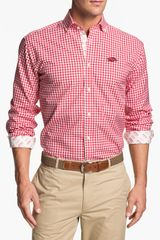 Thomas Dean University Of Arkansas Gingham Sport Shirt - Lyst