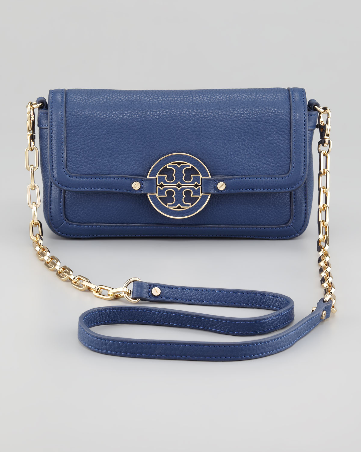Lyst - Tory Burch Amanda Mini Crossbody Bag Indigo in Blue 609c26a47