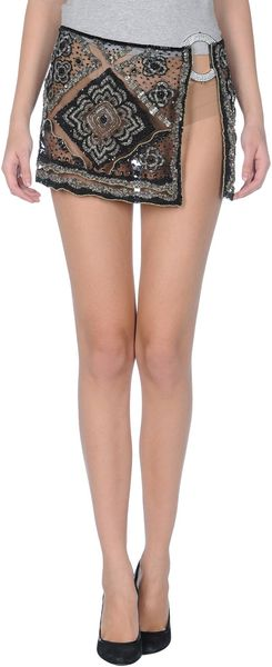 Valentino Mini Skirt - Lyst