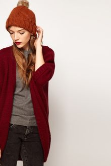 Asos Fleck Yarn Edge To Edge Cardigan - Lyst
