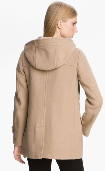 Burberry Brit Mawdsley Toggle Front Wool Coat In Beige