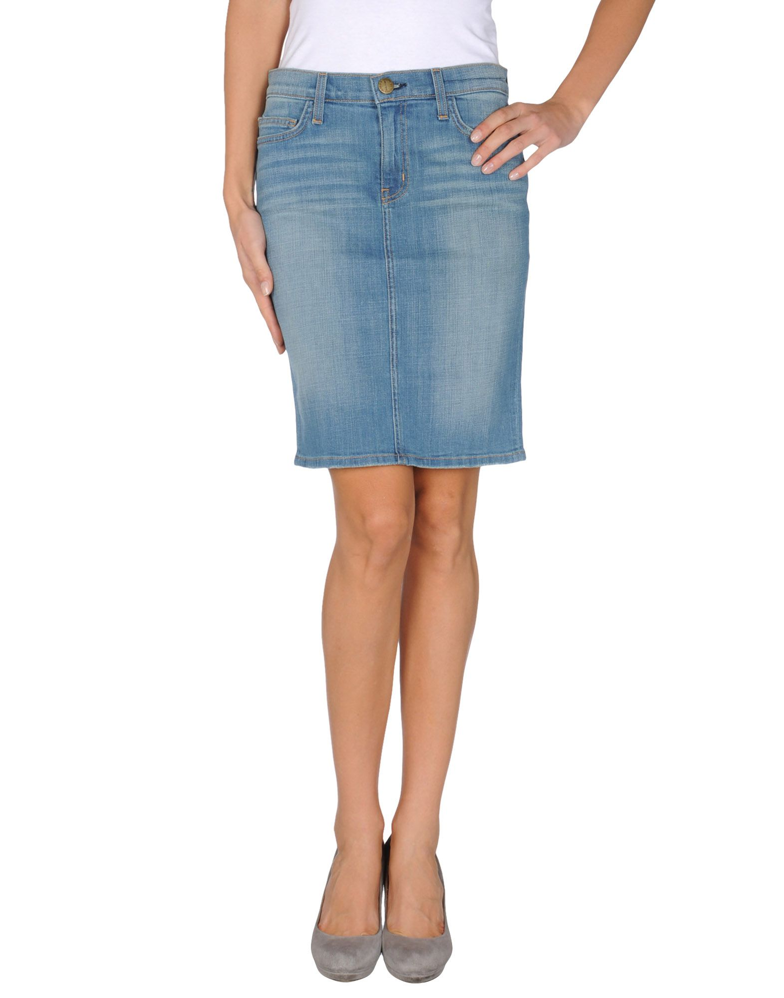 current elliott denim skirt in blue lyst