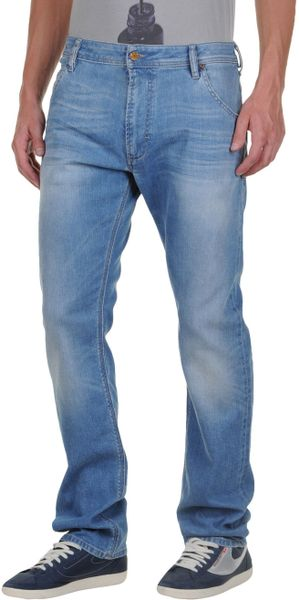 Diesel Denim Trousers in Blue for Men - Lyst