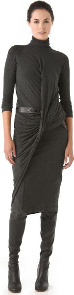Donna Karan New York Twist Drape Dress in Black (anthracite) - Lyst