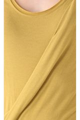 Donna Karan New York Draped Foundation Dress in Yellow - Lyst
