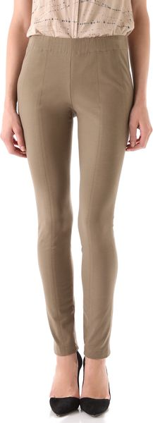 Donna Karan New York Legging Pants in Brown - Lyst