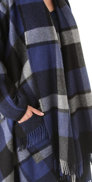 Donna Karan New York Blanket Coat In Blue Navy Lyst
