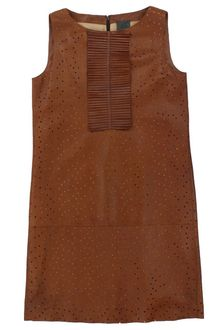 Fendi Brown Leather Dress - Lyst