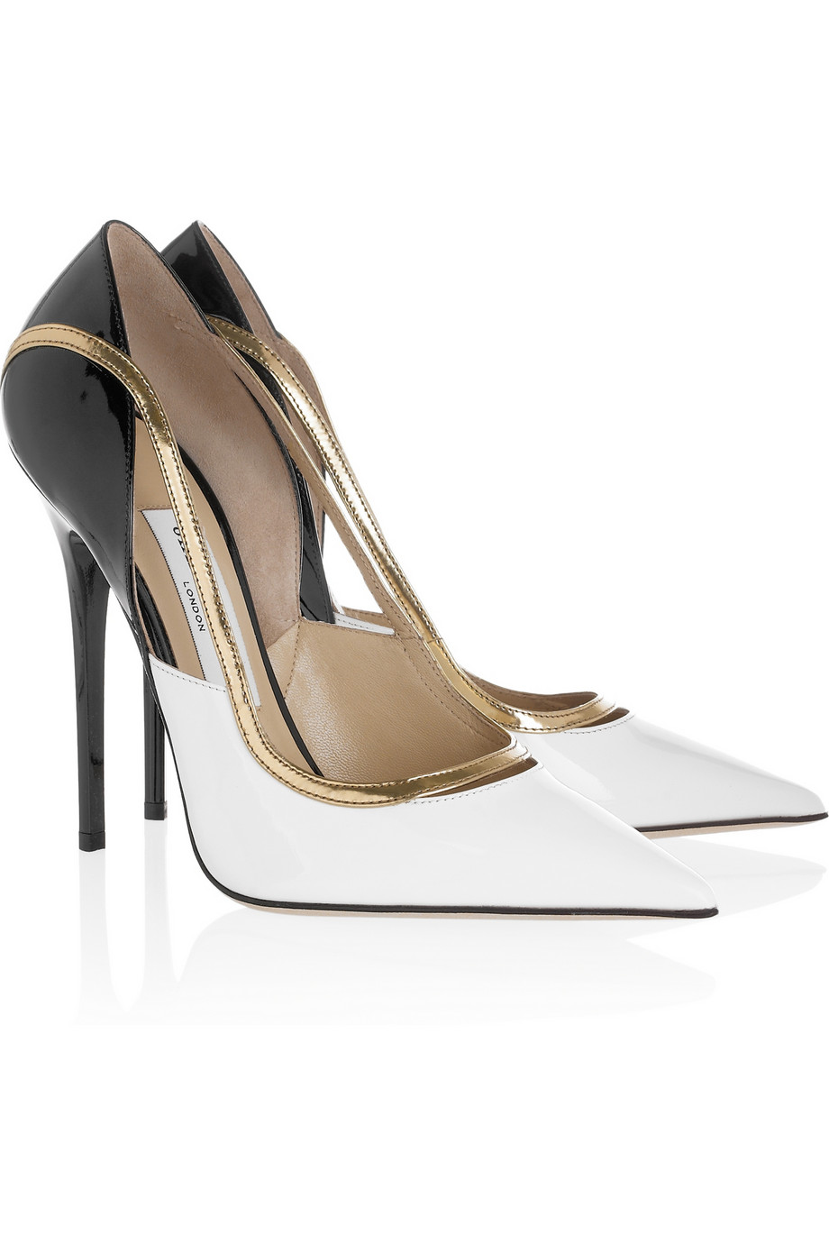 Jimmy Choo Viper Patentleather Pumps In White | Lyst