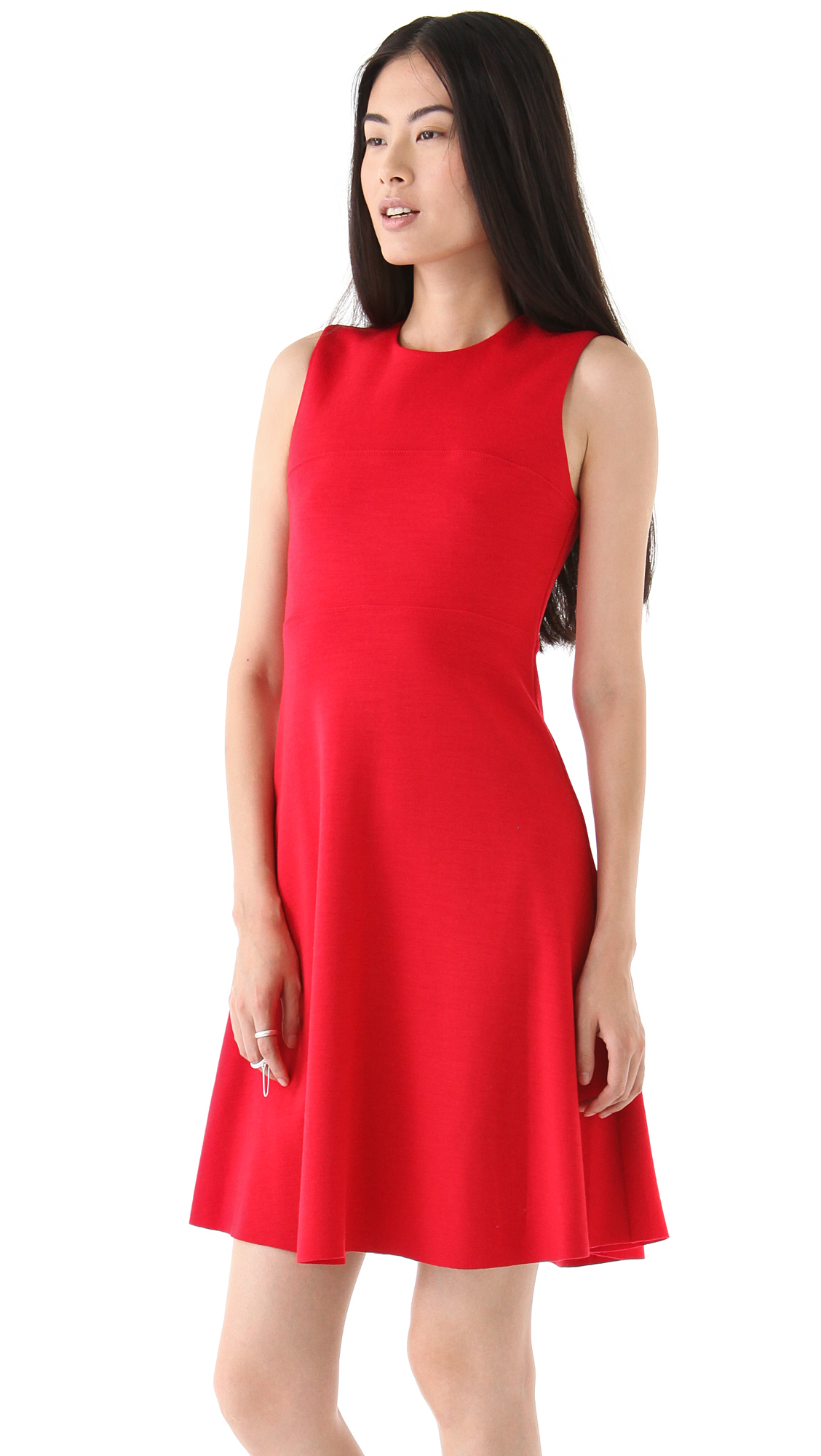 Lyst Joseph Sleeveless Dress In Red