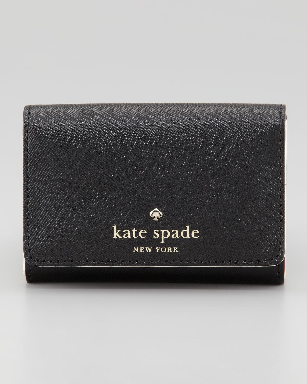 Kate Spade Mikas Pond Darla Small Key Wallet Black In