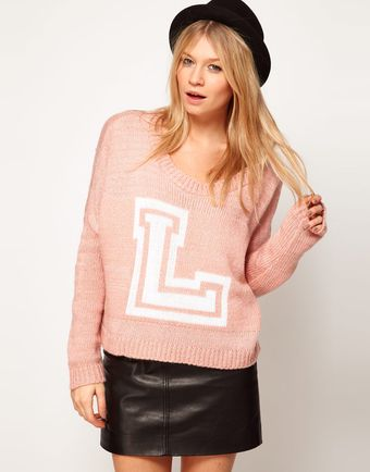 Love Letterman Jumper - Lyst