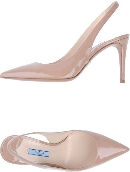 Prada Slingbacks in Pink - Lyst