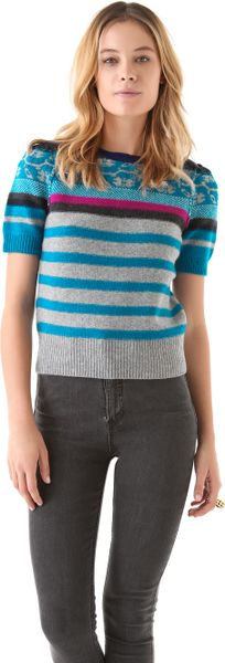 Sonia By Sonia Rykiel Fair Isle Sweater in Blue - Lyst