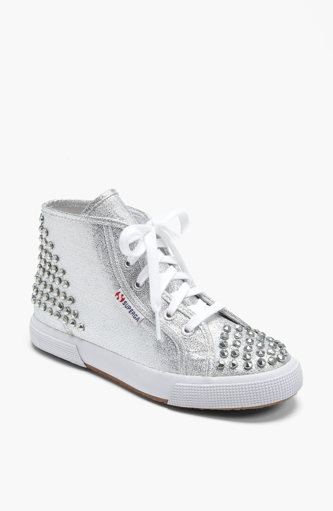 superga lam studs sneaker women in silver lyst. Black Bedroom Furniture Sets. Home Design Ideas