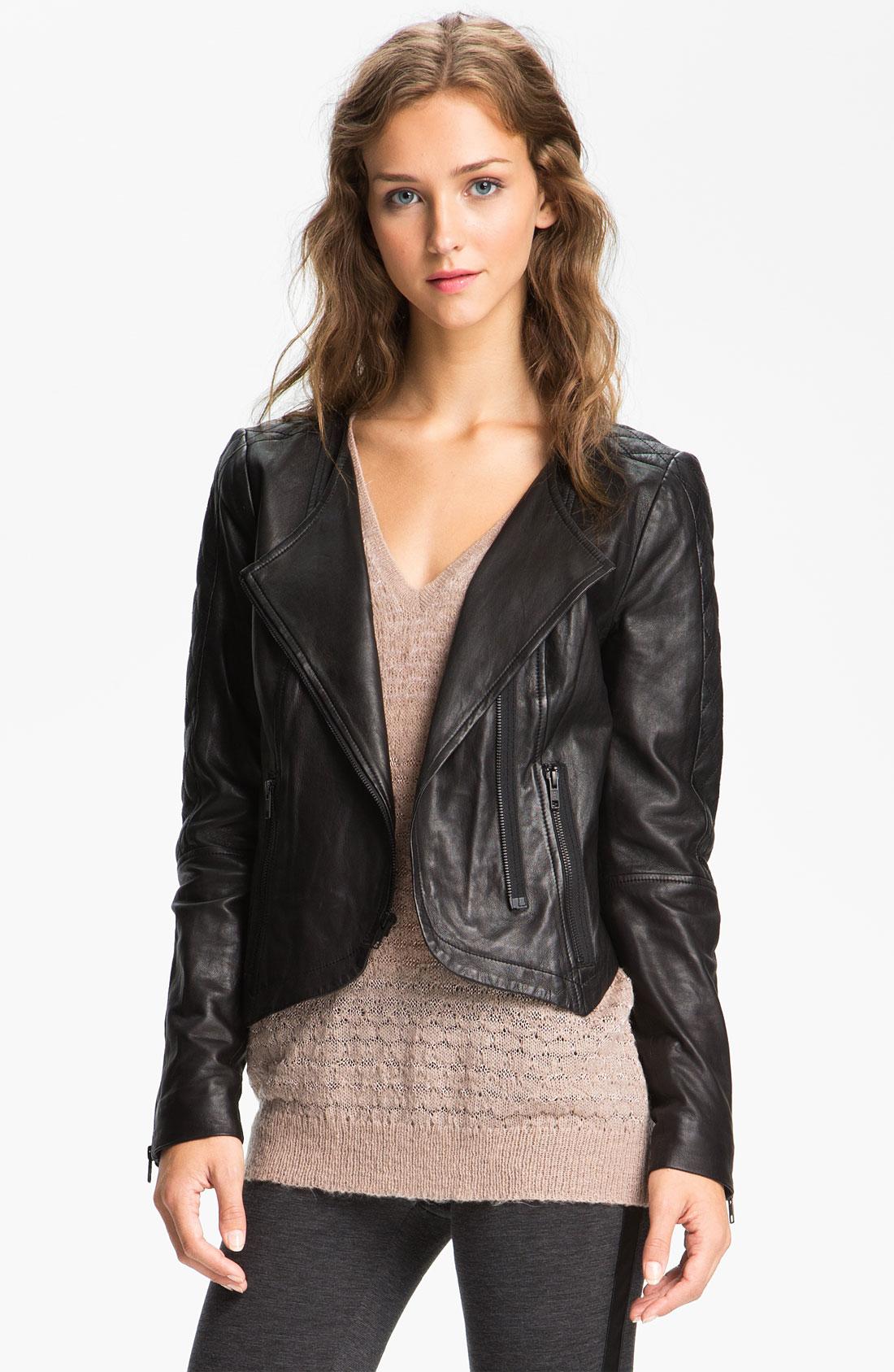 Trouvé Black Quilted Panel Leather Moto Jacket ( Size XS)   eBay : quilted leather moto jacket - Adamdwight.com