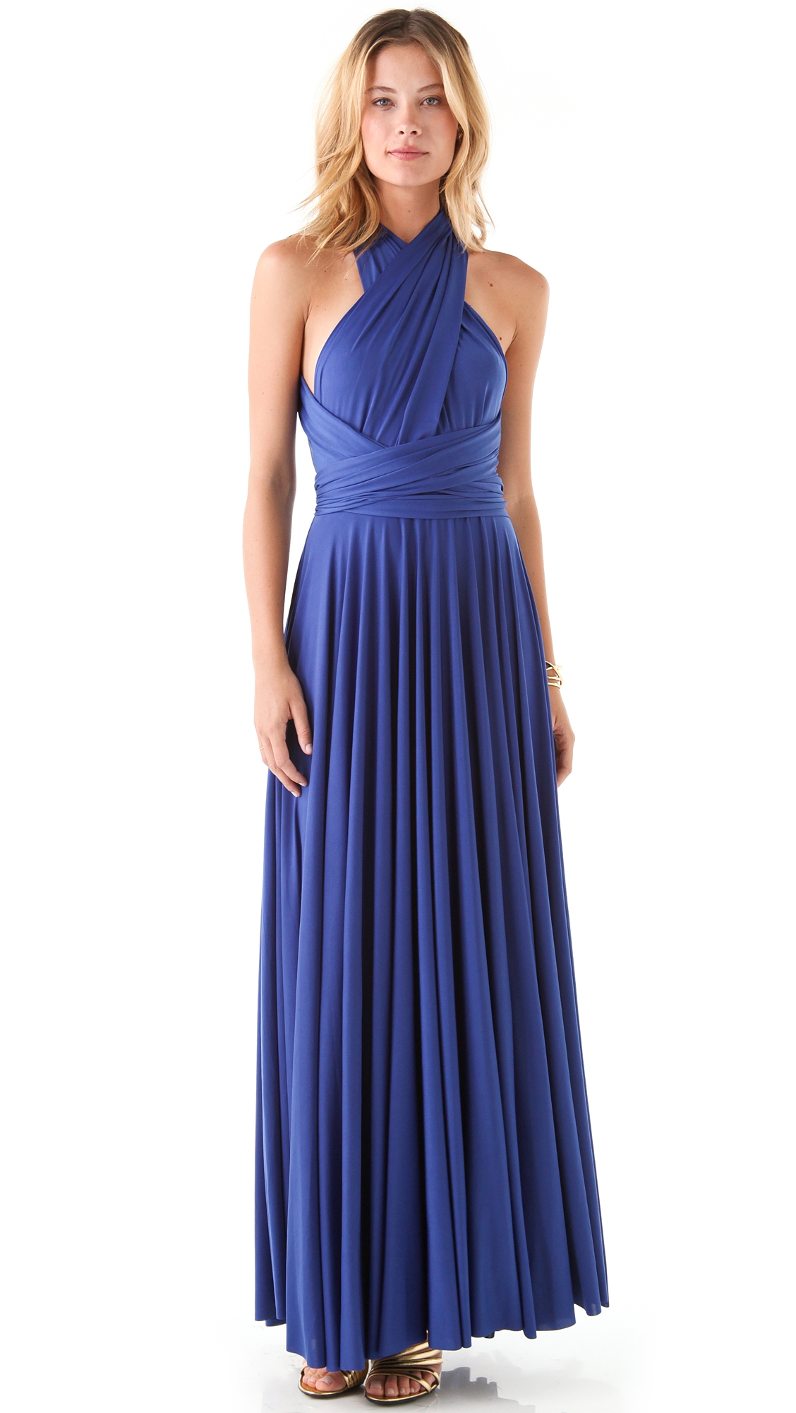 Twobirds Long Convertible Dress In Blue Lyst