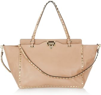 Valentino The Rockstud Leather Tote - Lyst