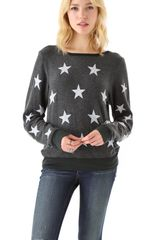 Wildfox Starshine Baggy Beach Sweatshirt - Lyst
