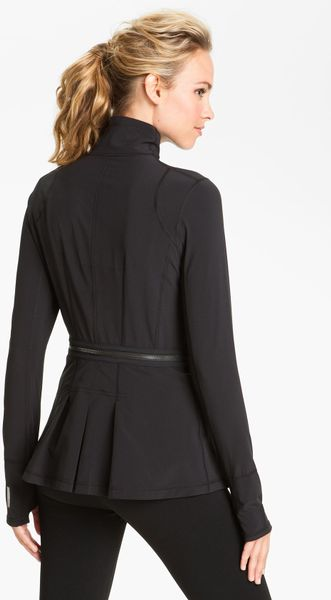 Zella Zip Off Peplum Jacket In Black Lyst