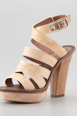 7 For All Mankind Hartford Platform Sandal Natural - Lyst
