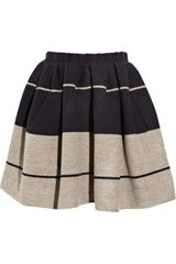 Acne Romantic Striped Wool Mini Skirt - Lyst