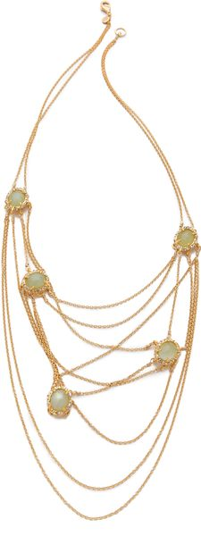 Alexis Bittar Siyabona Draping Necklace in Gold - Lyst