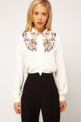 ASOS Collection Asos Blouse with Floral Embroidery - Lyst