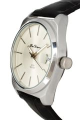 Ben Sherman White Dial Leather Strap Watch in Black for Men - Lyst