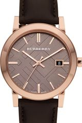 Burberry Rose Goldplated and Leather Strap - Lyst