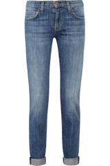 Current/Elliott The Rolled Stretch Denim Skinny Jeans - Lyst