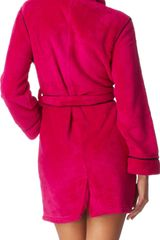 Dkny Short Robe in Pink - Lyst