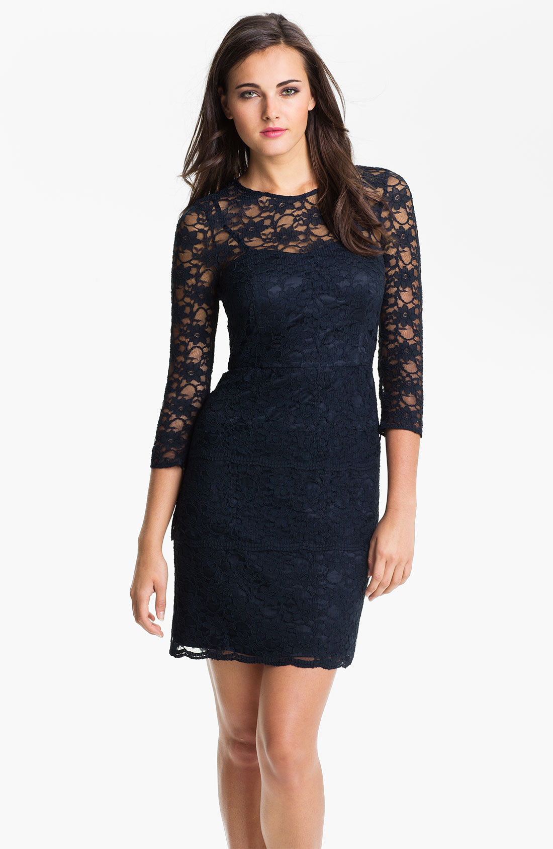 Navy blue lace sheath dress - All Pictures top