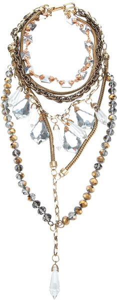 Fenton Drop Crystal Necklace - Lyst