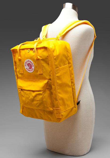 fjällräven kånken laptop 15 warm yellow