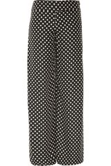 Haute Hippie Polka Dotprint Silk Wideleg Pants - Lyst