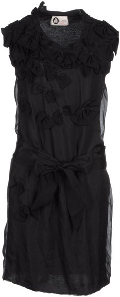 Lanvin Short Dress - Lyst