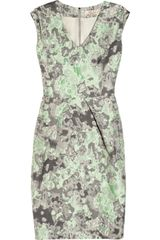 Lela Rose Abstract Patterned Brocade Dress - Lyst