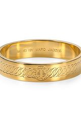 Marc By Marc Jacobs Engraved Turnlock Bangle - Lyst