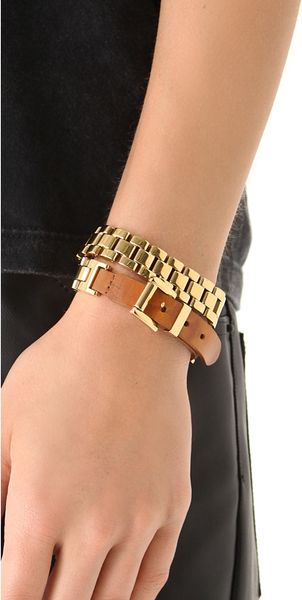 Michael Kors Watch Link Wrap Bracelet In Gold Lyst